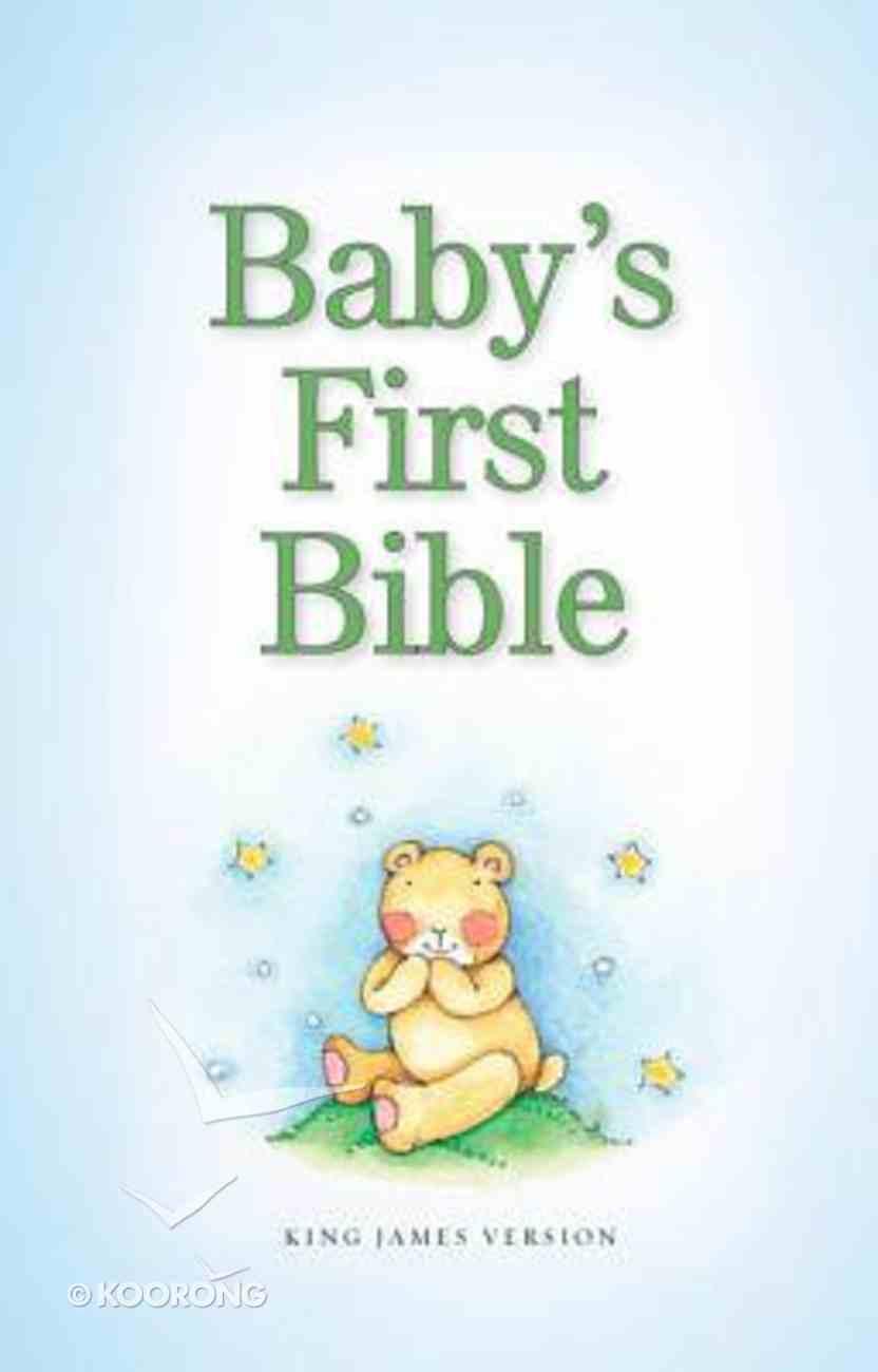 KJV Baby's First Bible Pale Blue (Red Letter Edition) Hardback