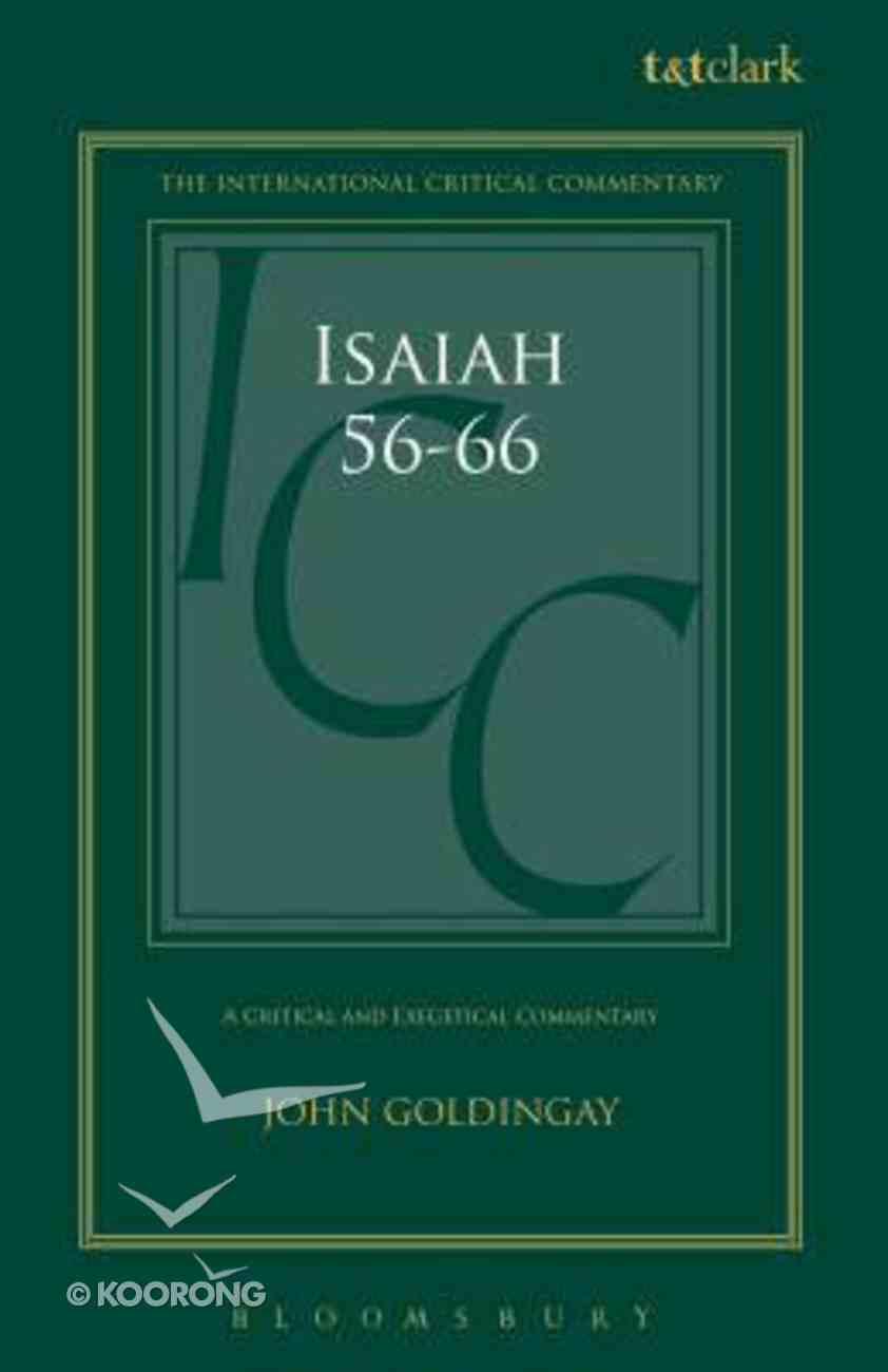 Isaiah 56-66 (Volume 3) (International Critical Commentary Series) Hardback