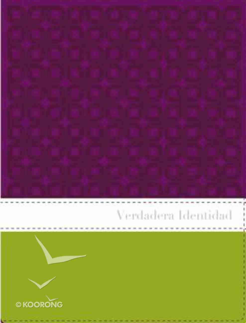 Nvi Verdadera Identidad Italian Duo-Tone Purple/Green / True Identity Bible For Women the Imitation Leather