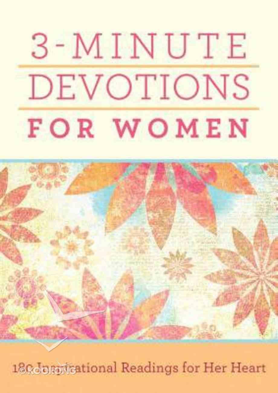 3-Minute Devotions For Women Paperback