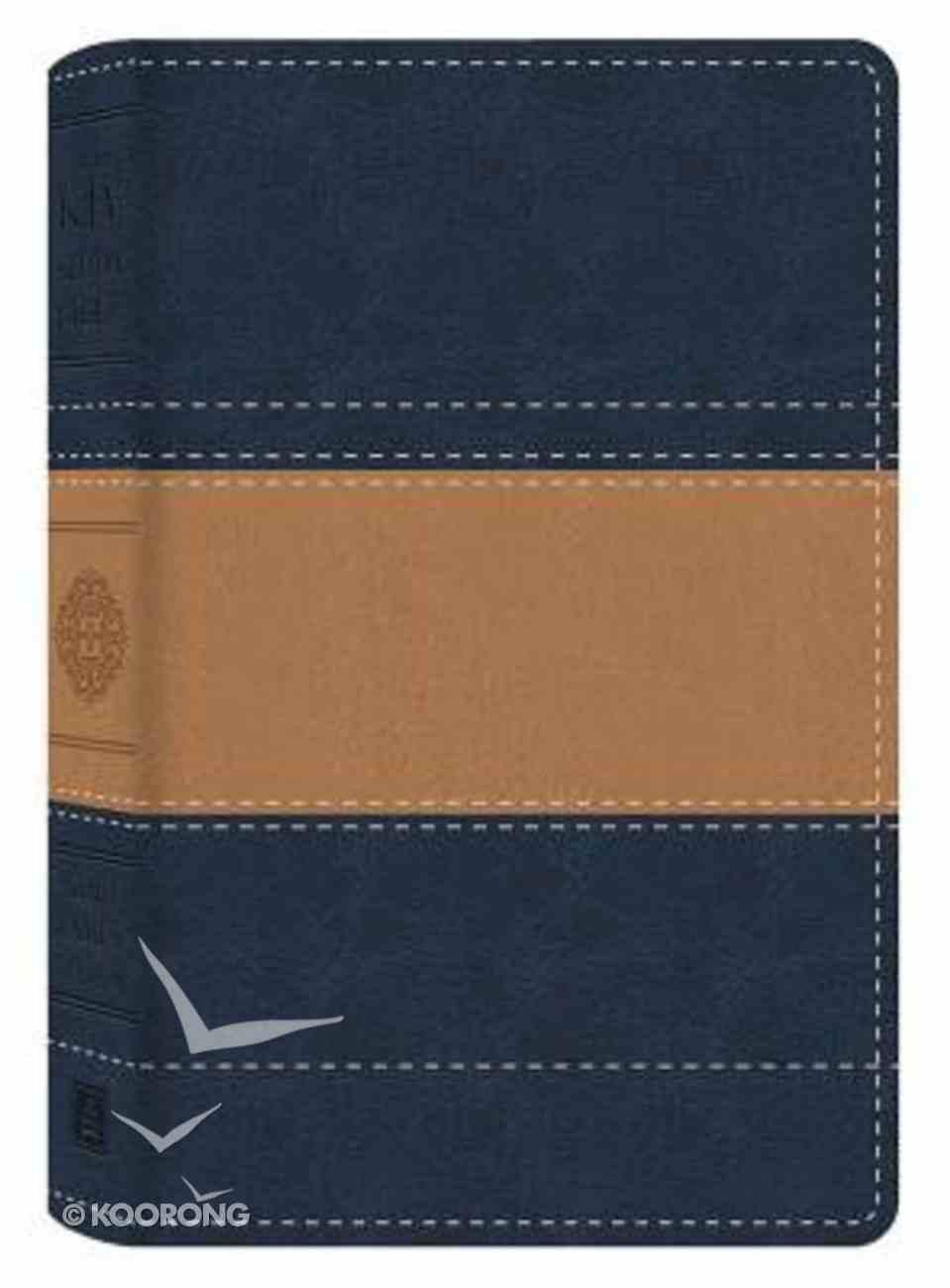 KJV Study Bible Illustrated Edition Blue/Tan Flexi Back