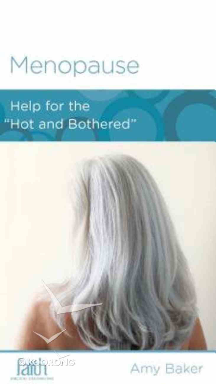 Menopause (Women To Women Mini Books Series) Booklet