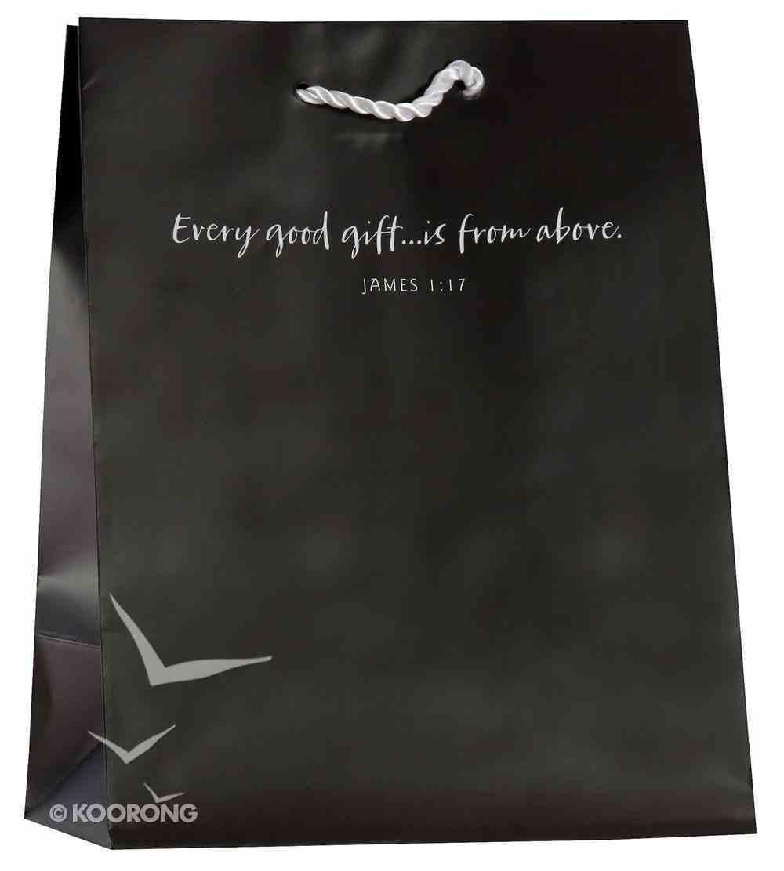 Value Gift Bag Medium: Gray (James 1:17 Kjv) Stationery