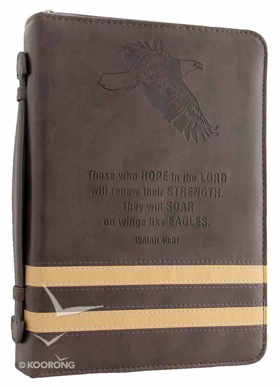 Bible Cover Isaiah 40: 31 Eagle/Brown Medium Classic Luxleather Imitation Leather