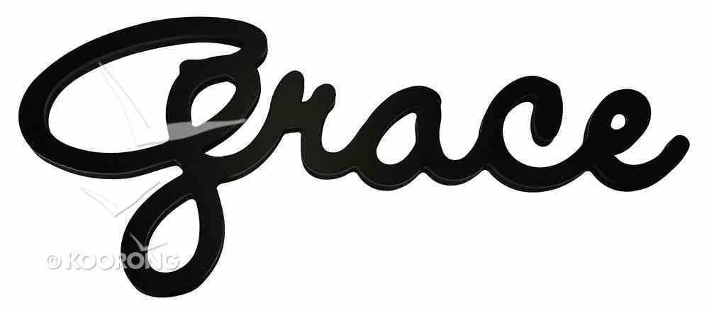 Word Plaque: Grace, Black, Mdf Plaque
