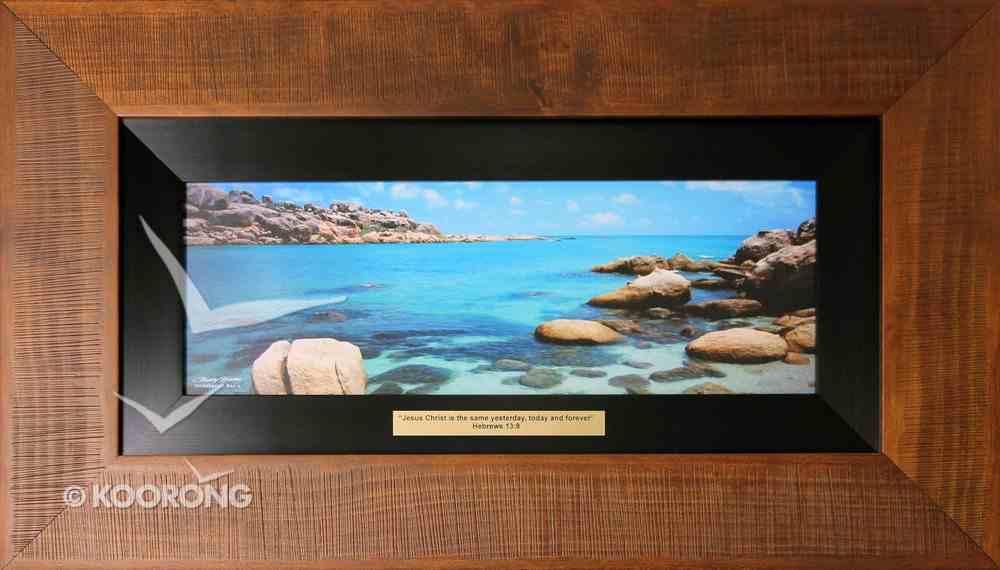 Clancy Haven Framed Photo: Horseshoe Bay 2, Hebrews 13:8 Plaque