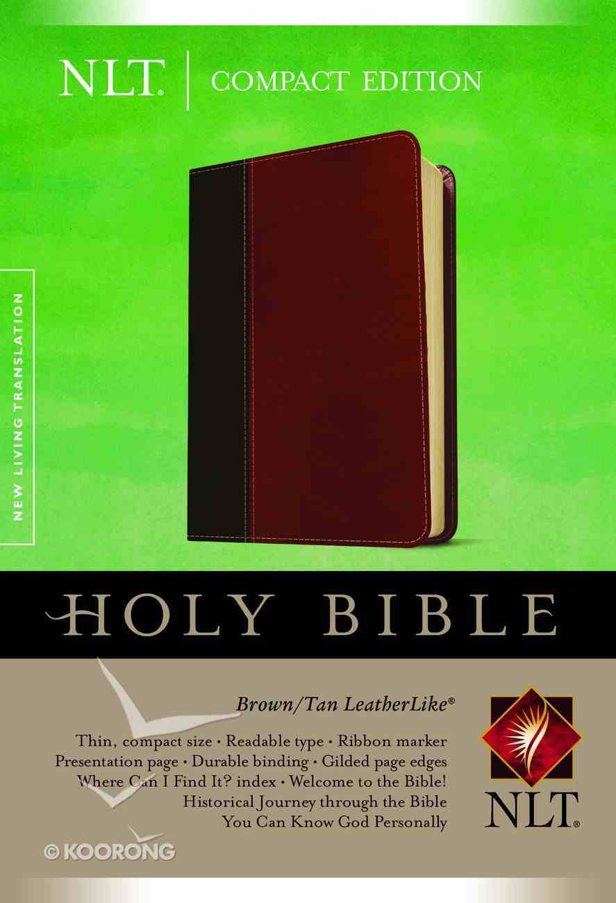 NLT Compact Bible Brown/Tan (Black Letter Edition) Imitation Leather