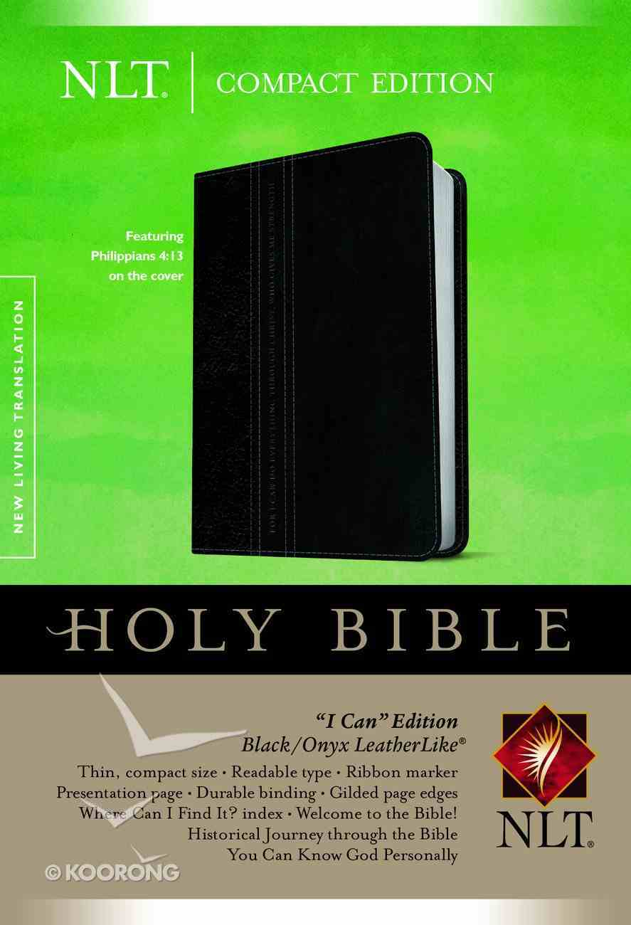 NLT Compact Bible Black/Onyx (Black Letter Edition) Imitation Leather