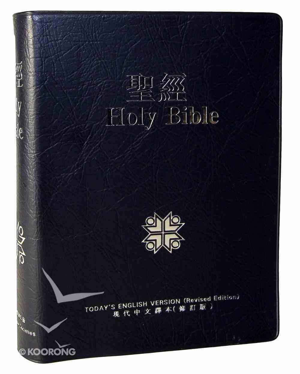 Tcv/Tev Chinese/English Parallel Traditional Script Blue Vinyl