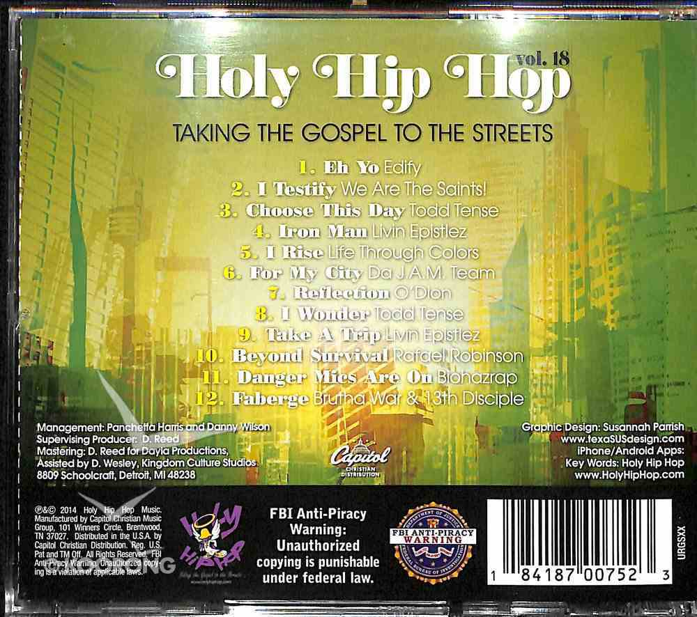Holy Hip Hop #18: Taking the Gospel to the Streets CD