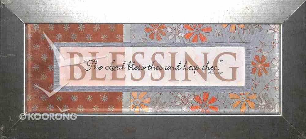 Keepsake Mdf Framed Art: Blessing Plaque