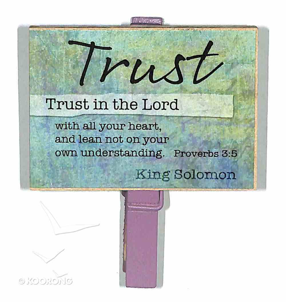Magnet Clip Quotes: Trust - Trust in the Lord Novelty