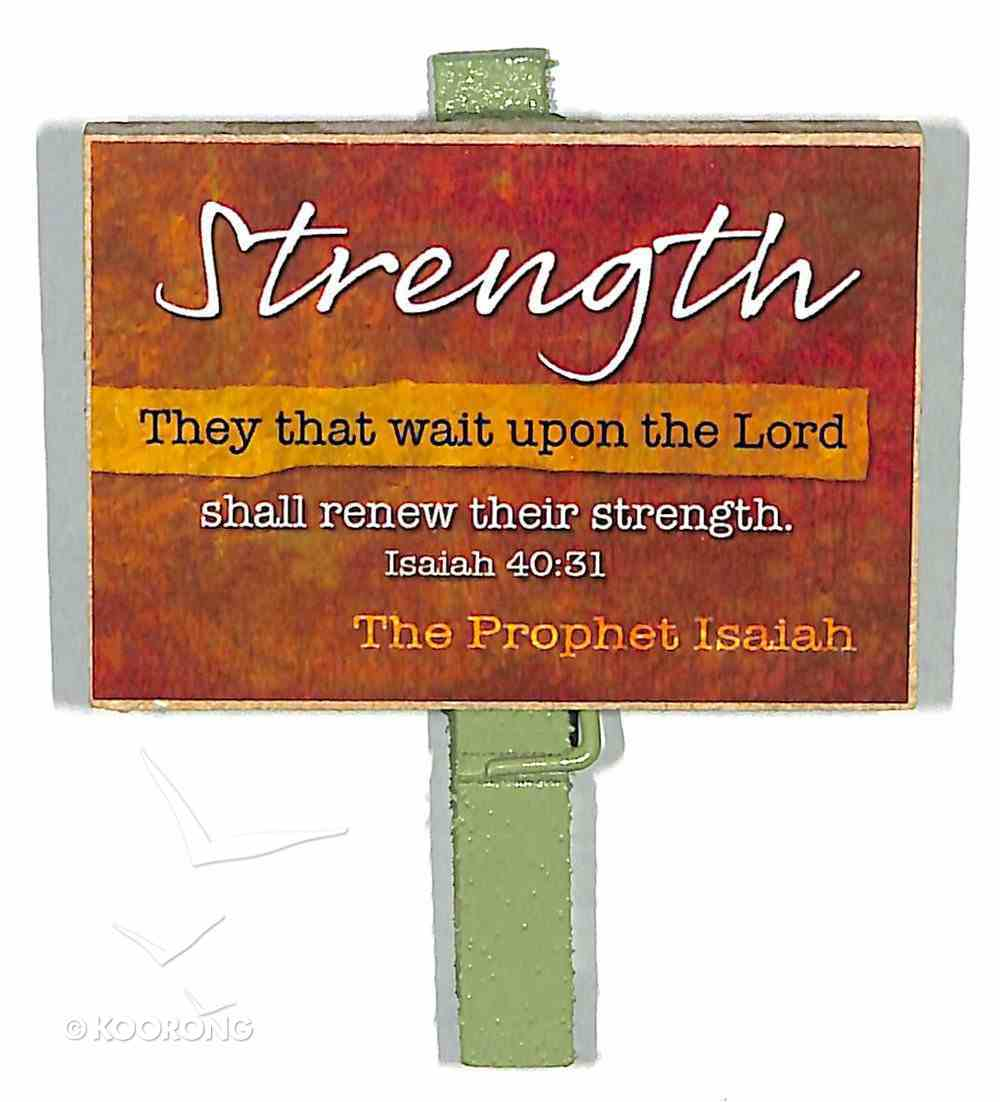 Magnet Clip Quotes: Strength - They That Wait Upon the Lord Novelty