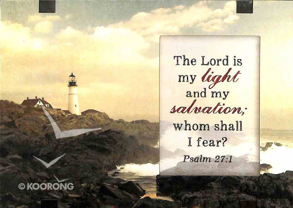 Windows Easeled Glass Plaque: The Lord is My Light (Psalm 27:1) Plaque