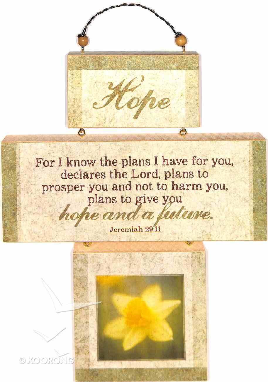Cross Shaped Three Piece Mdf Wall Plaque: Hope, Jeremiah 29:11 (Crosswords) Plaque