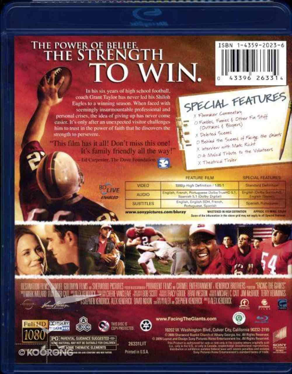 Facing the Giants (Blu-ray) Blu-ray Disc