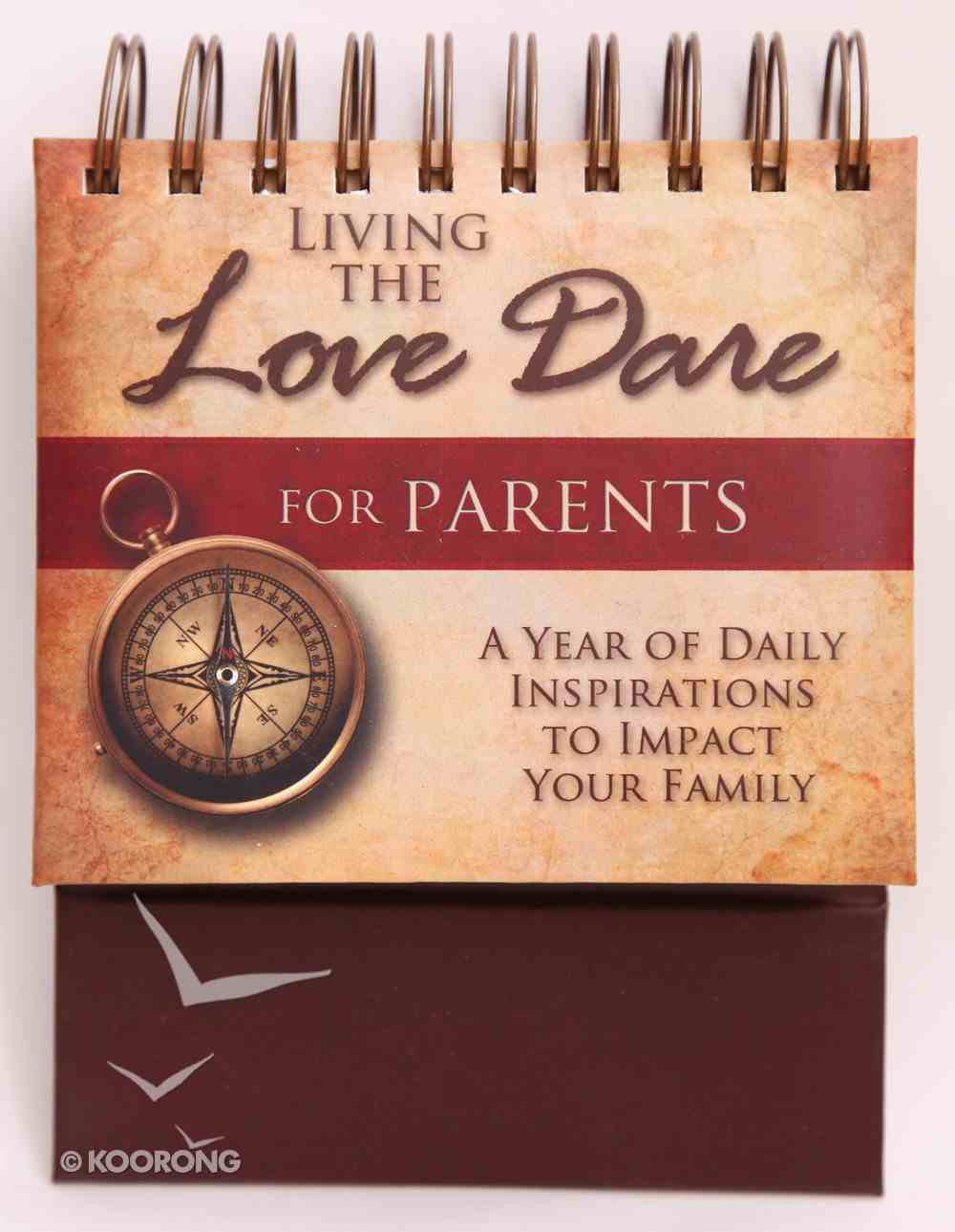 395 Perpetual Calendar: Love Dare For Parents Flip Calendar Calendar