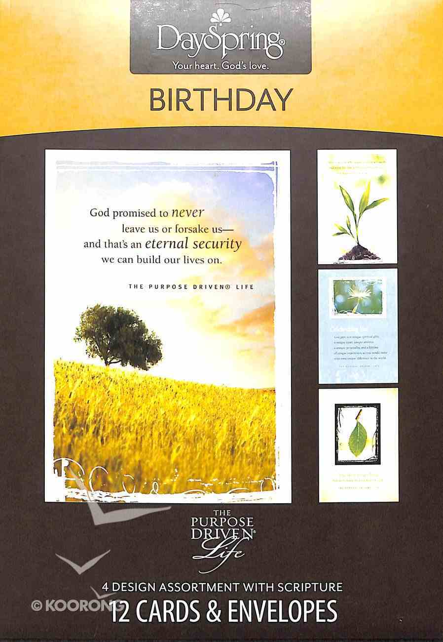 Boxed Cards Birthday: Purpose Driven Life Box
