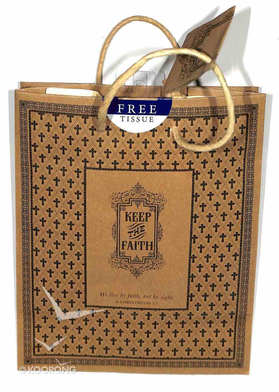 Gift Bag Medium: Keep the Faith (Incl Tissue Paper & Gift Tag) Stationery