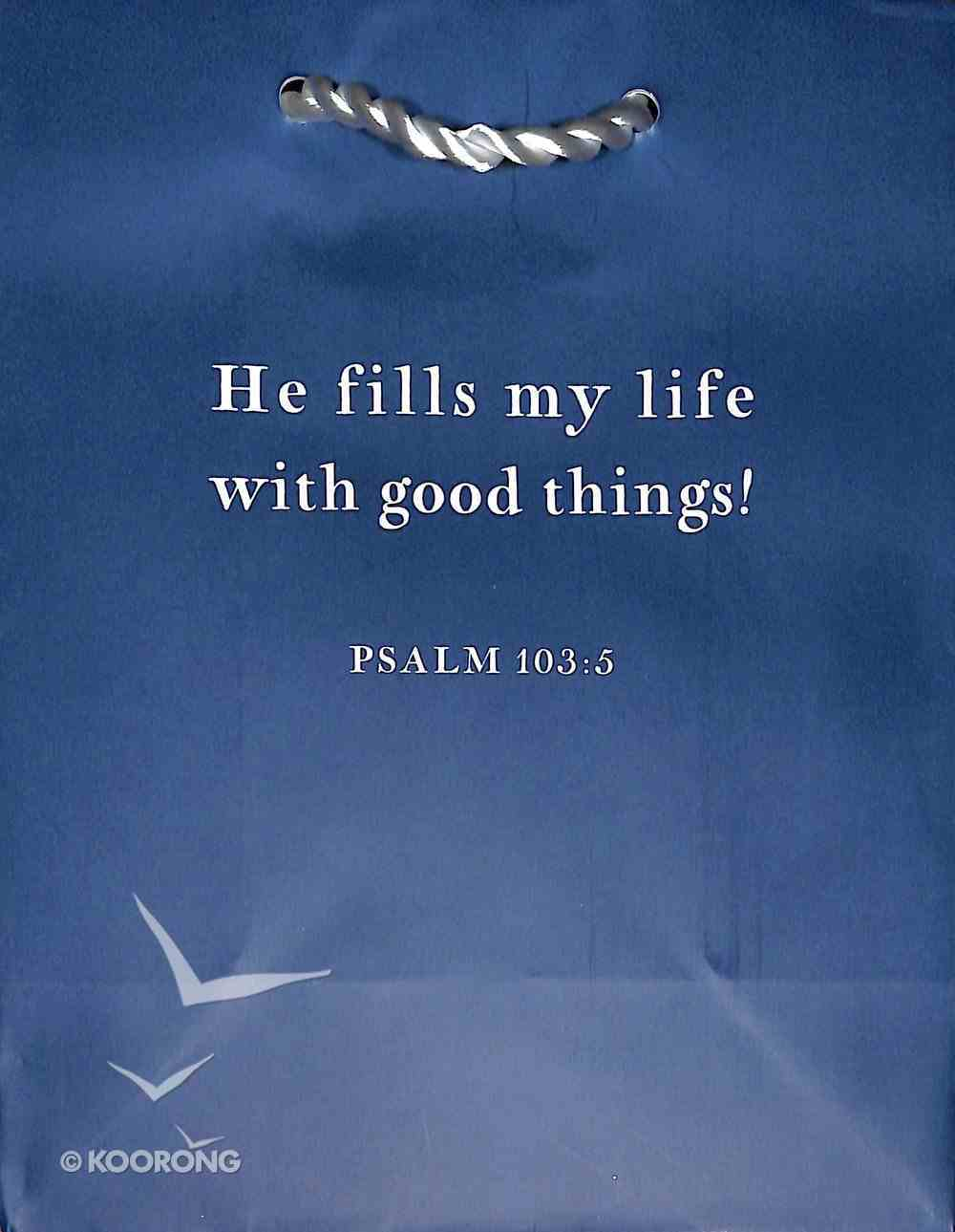 Value Gift Bag Small: Indigo (Psalm 103:5 Tlb) Stationery