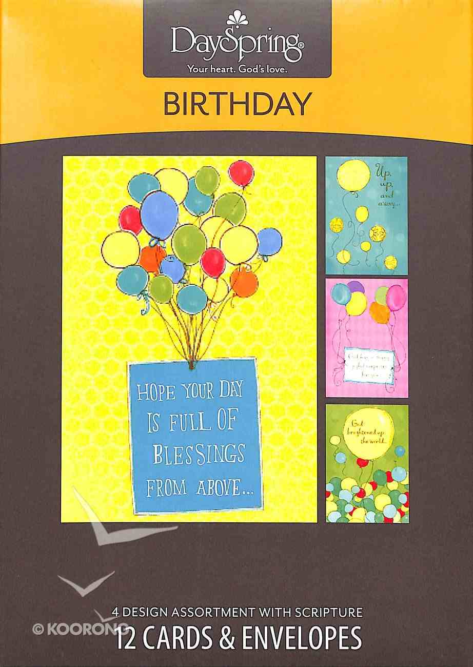 Boxed Cards Birthday: Balloons Box
