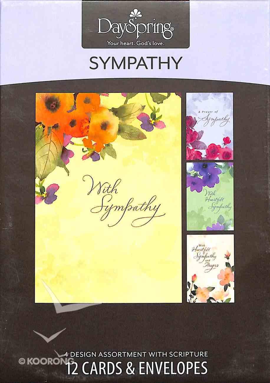 Boxed Cards Sympathy: Watercolours Box