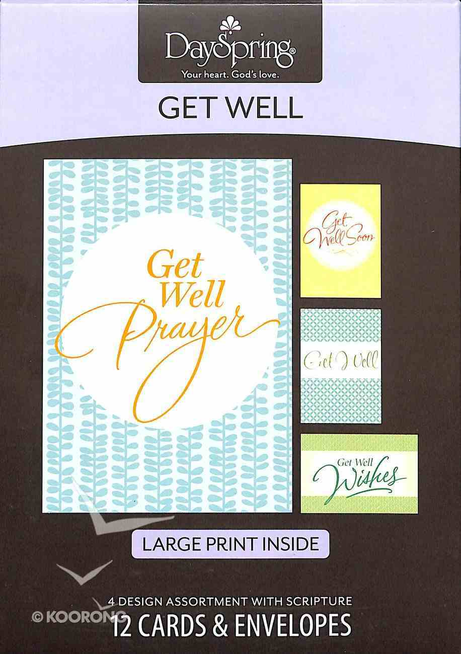 Boxed Cards Get Well: Large Print Box