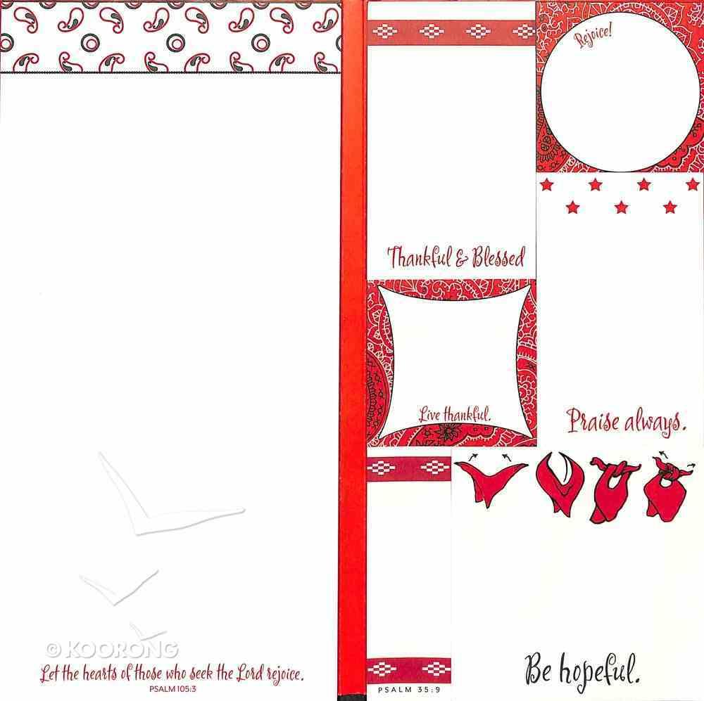 Memofolio: Bandana, Psalm 32:11 & Psalm 105:3 Stationery
