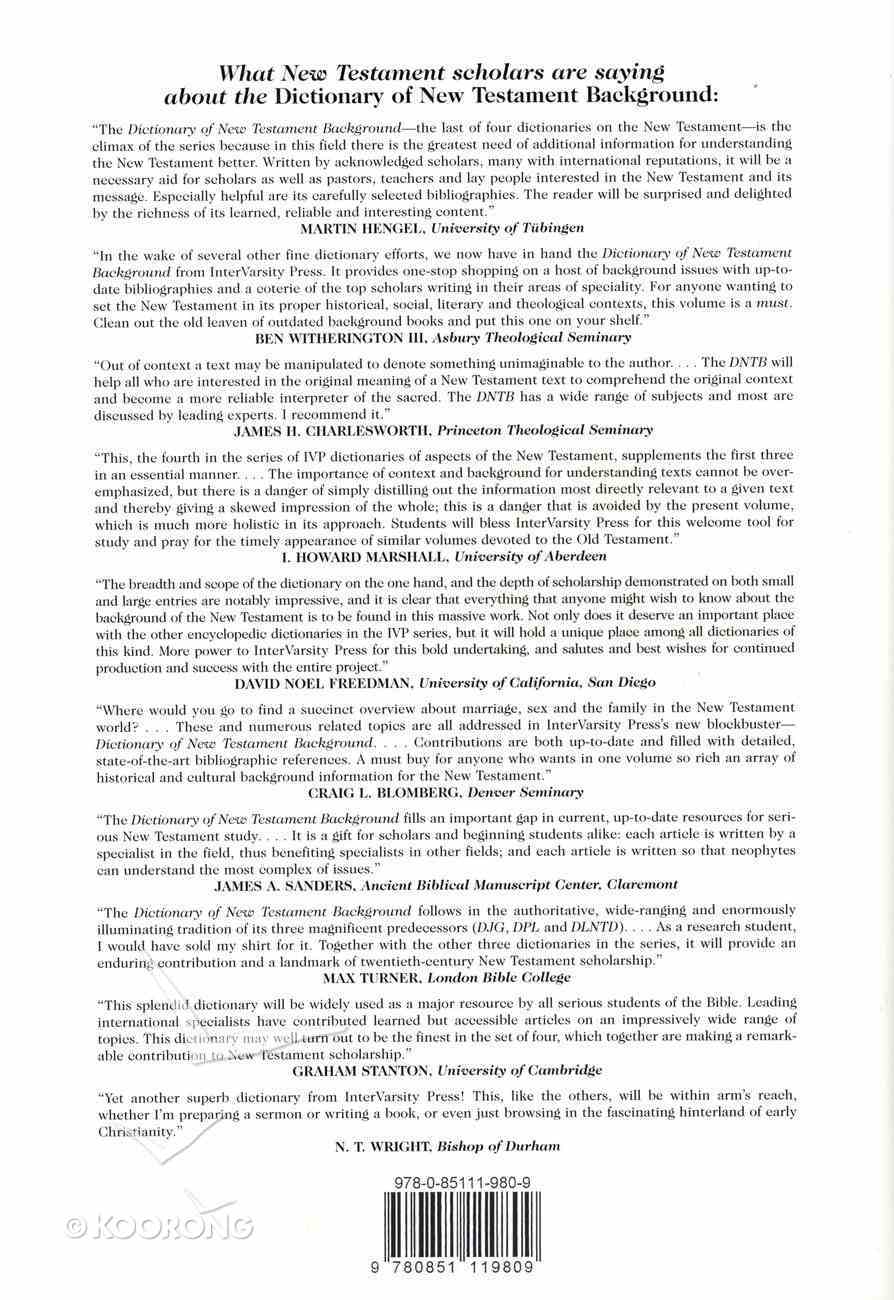 Dictionary of New Testament Background Hardback