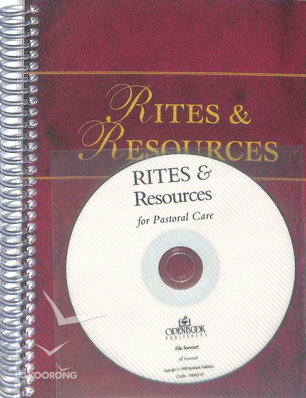 Rites and Resources For Pastoral Care Paperback