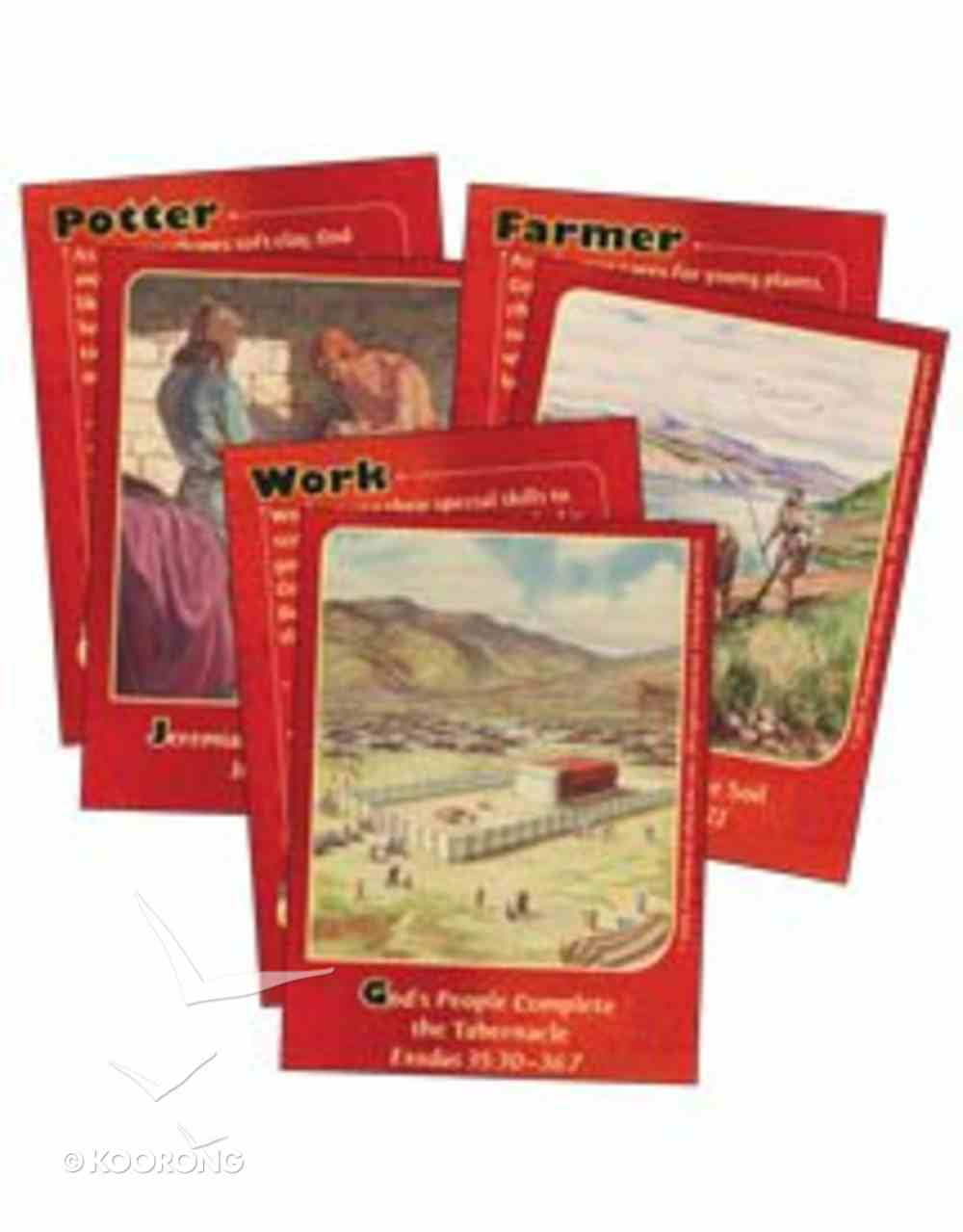 Dlc B1: At Work With God Bible Cards Ages 6-8 (Discipleland Level 1, Ages 6-8, Qtrs Abcd Series) Pack