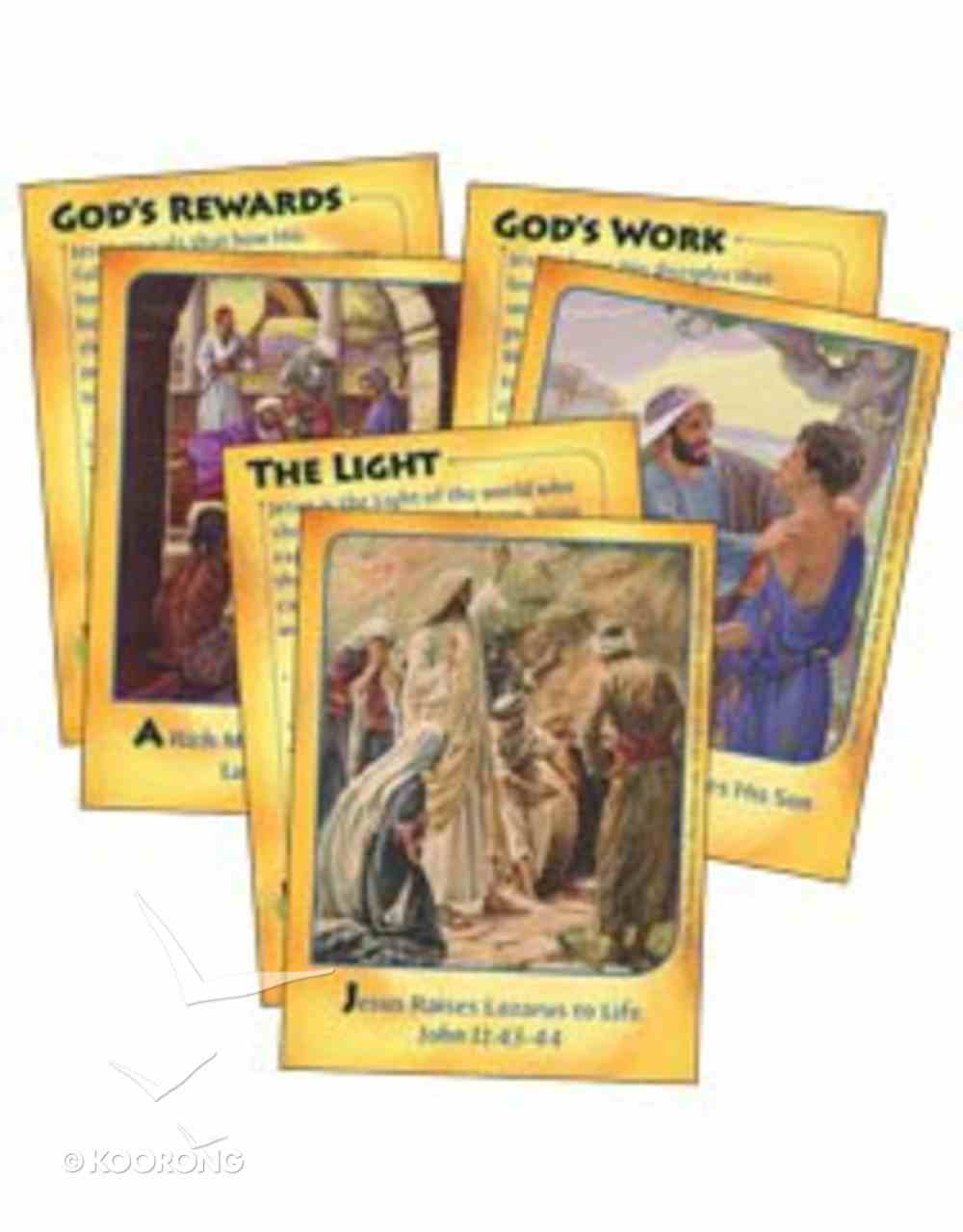 Dlc C3: Serving the King Bible Cards Ages 8-10 (Mighty Miracles) (Discipleland Level 3, Ages 8-10, Qtrs Abcd Series) Pack