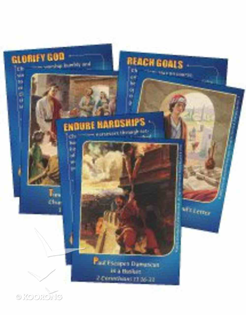 Dlc D5: Following the Faithful Bible Cards Ages 10-13 (Tomorrow's Champions) (Discipleland Level 5, Ages 10-12, Qtrs Abcd Series) Pack