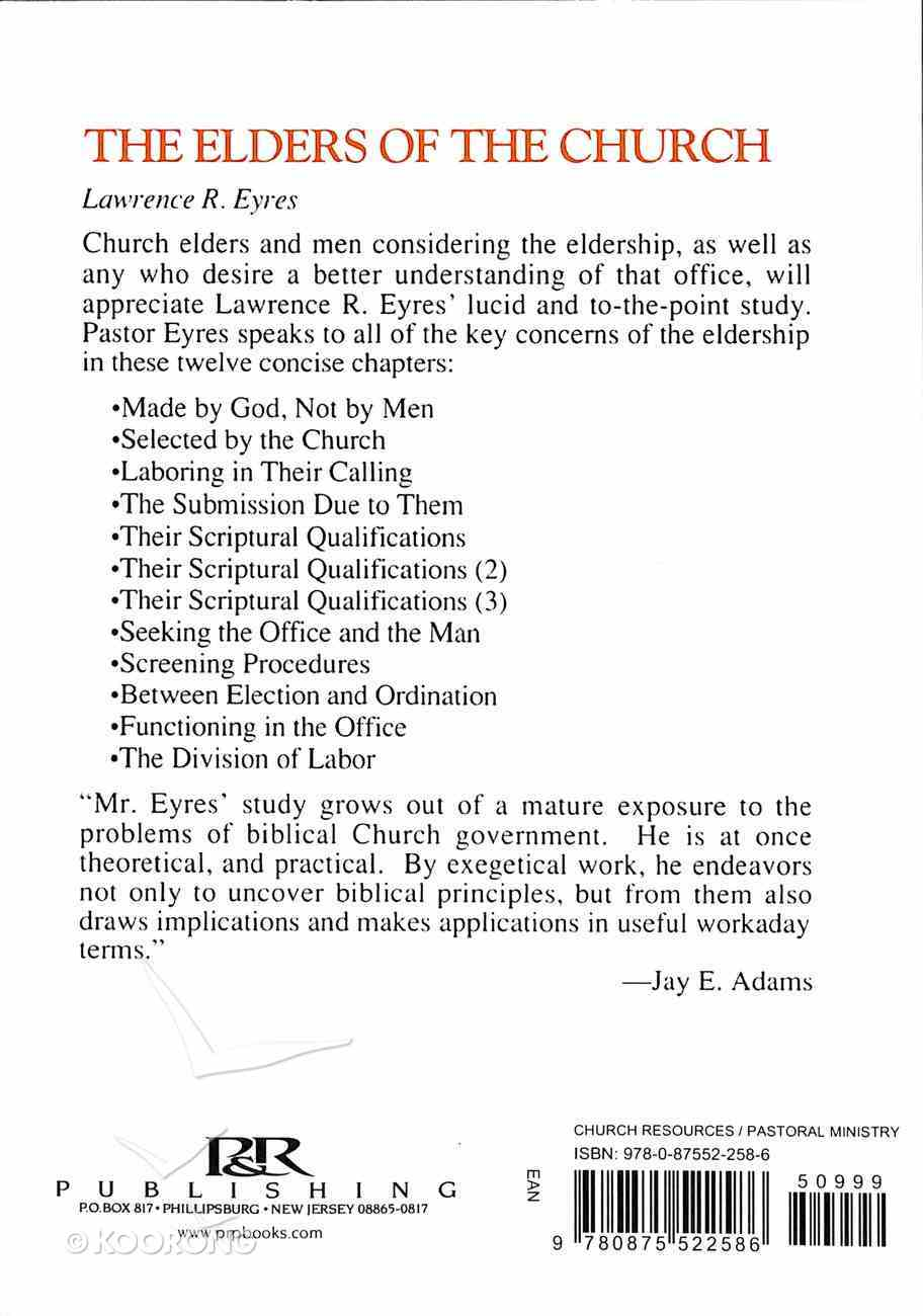 The Elders of the Church Paperback