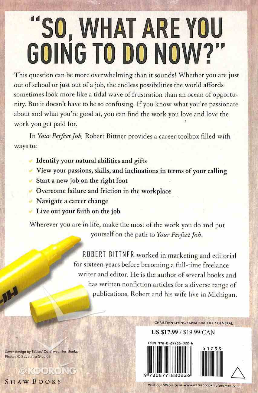 Your Perfect Job Paperback