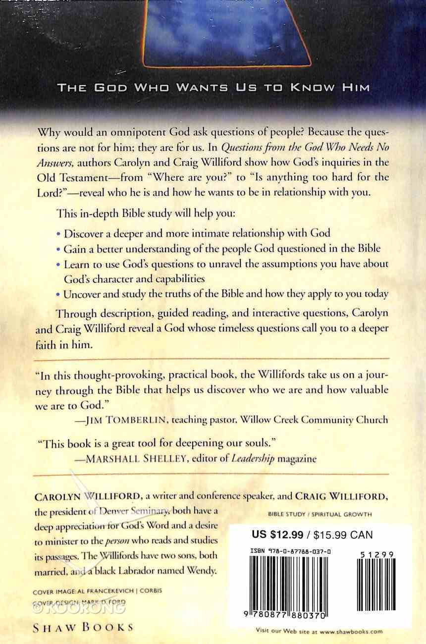 Questions From the God Who Needs No Answers (Fisherman Resource Studies) Paperback