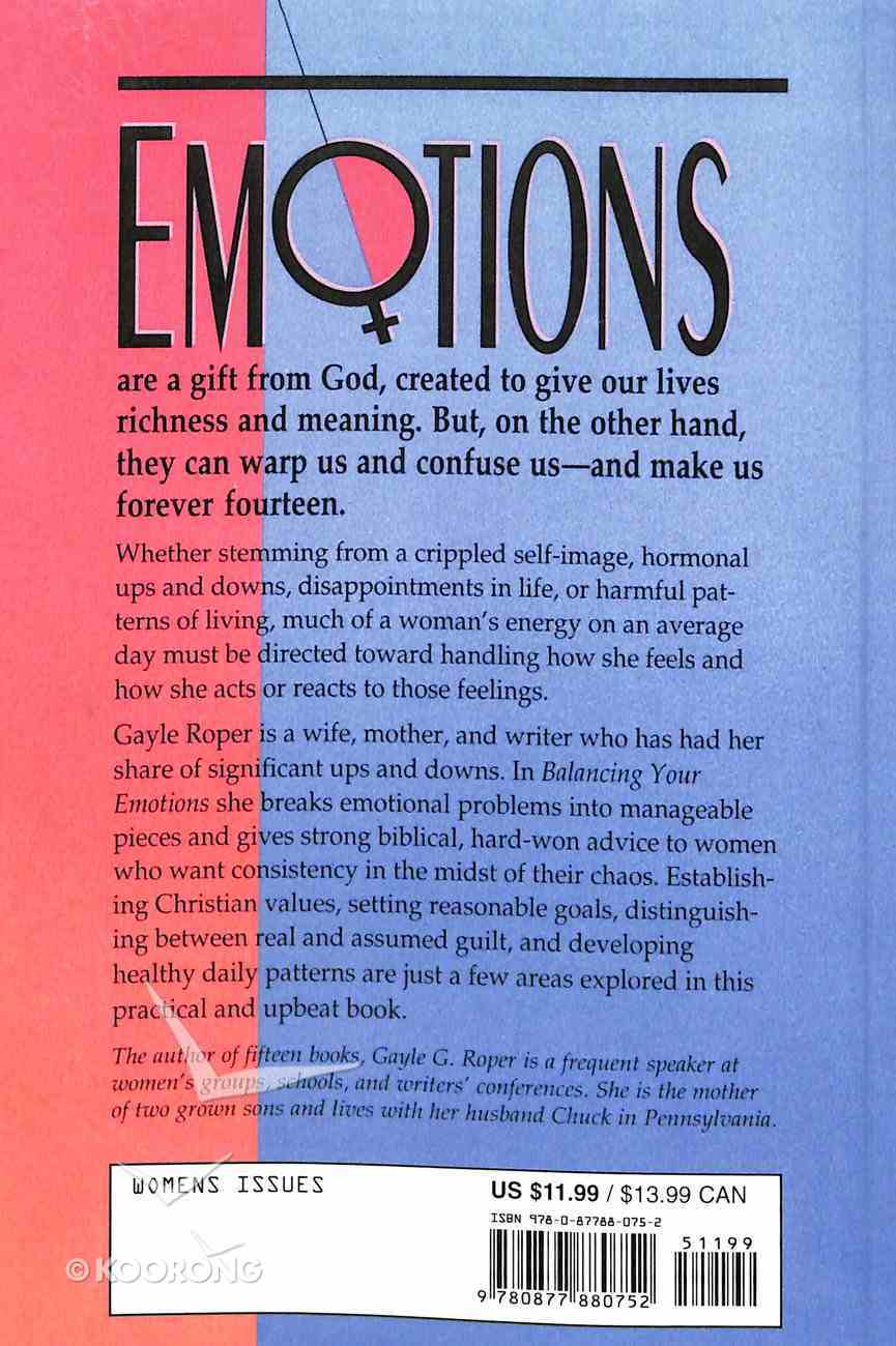 Balancing Your Emotions Paperback