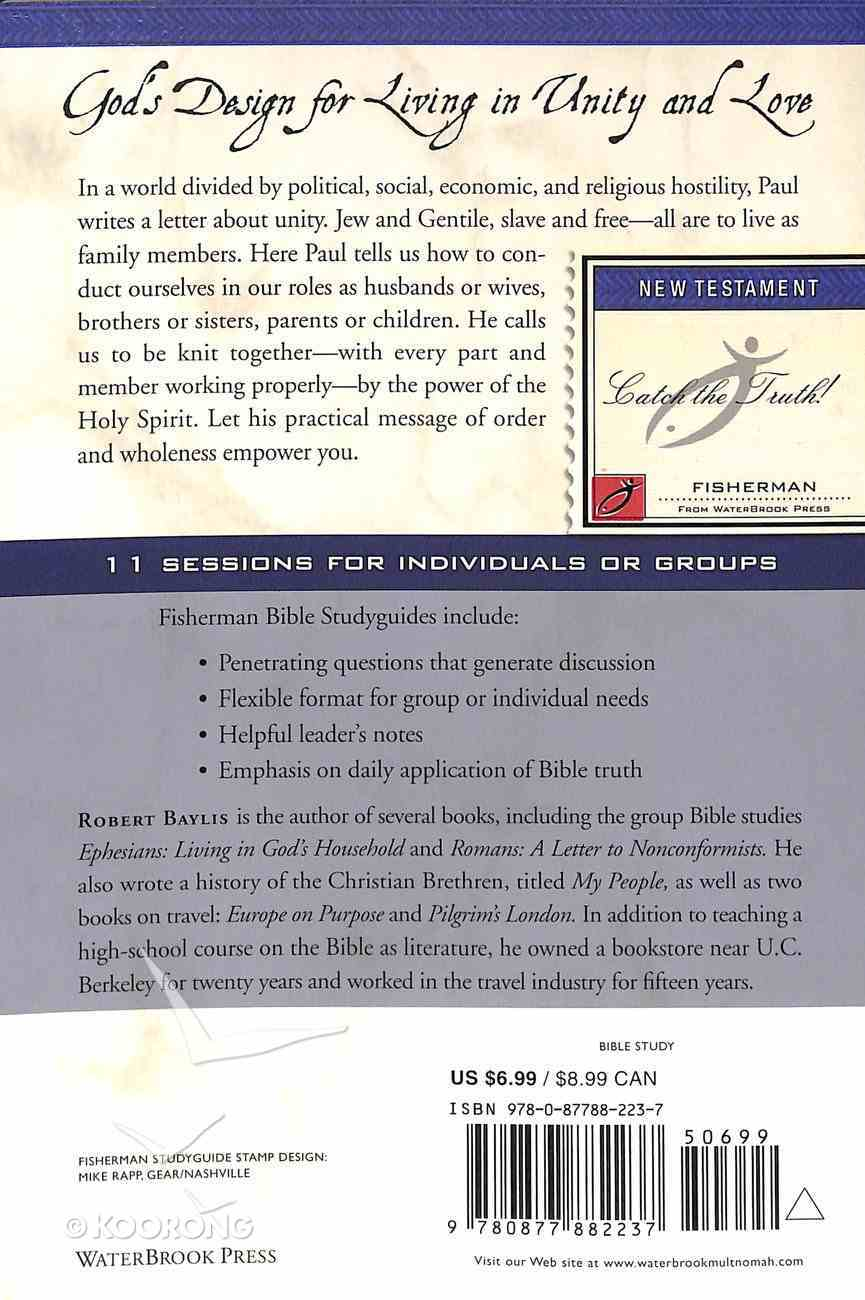 Ephesians: Living in God's Household (Fisherman Bible Studyguide Series) Paperback