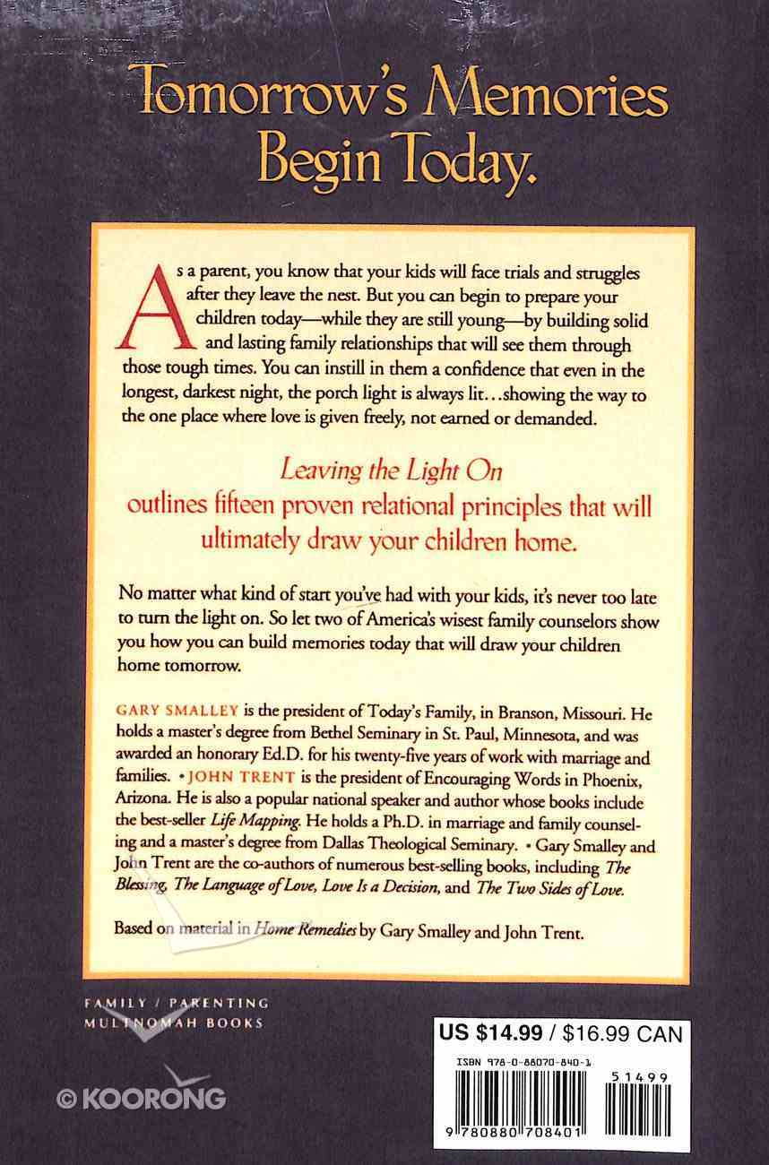 Leaving the Light on Paperback