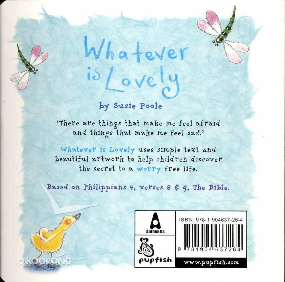 Pupfish: Whatever is Lovely Board Book