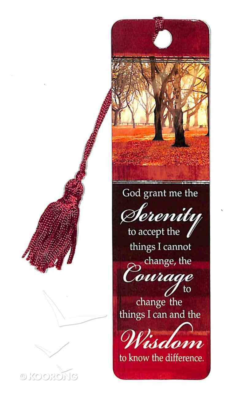 Bookmark With Tassel: God Grant Me the Serenity (Gold Foiled) Stationery