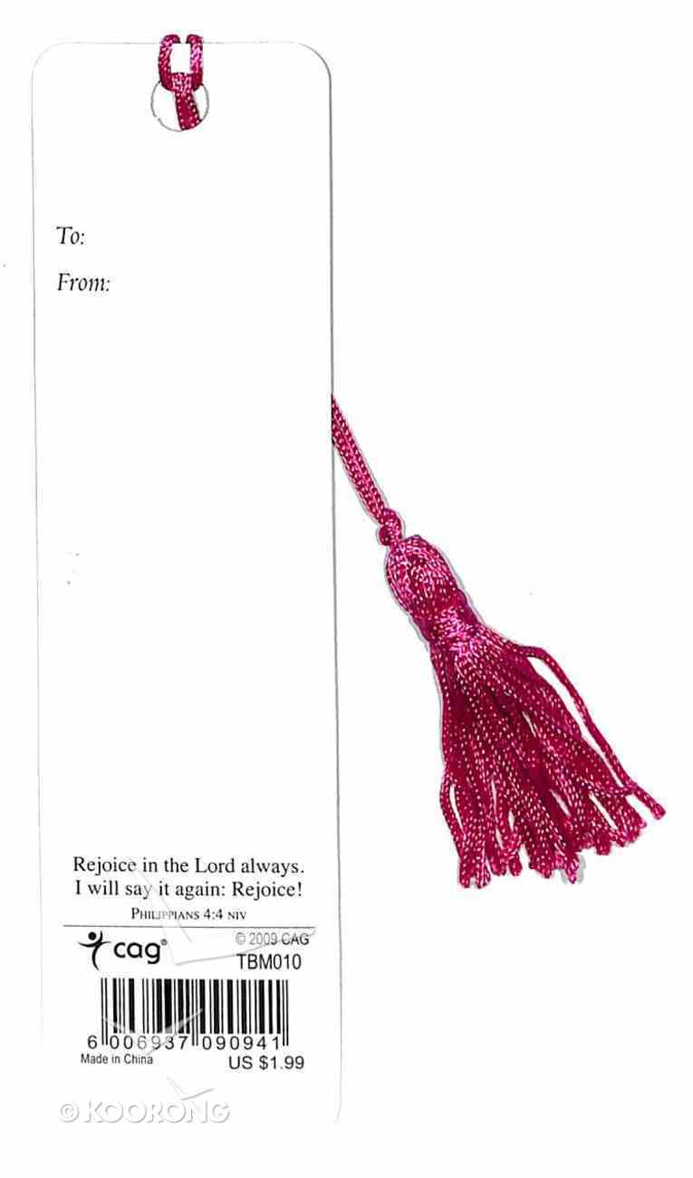 Bookmark With Tassel: Joy (Silver Foiled) Stationery