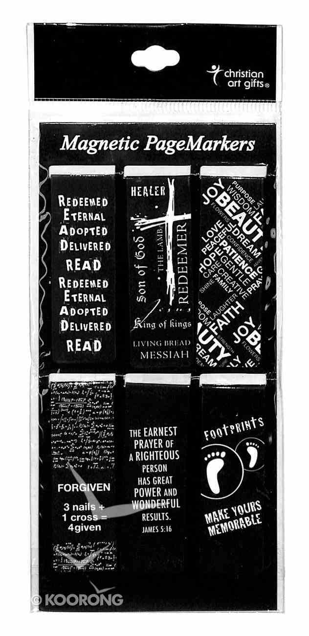 Bookmark Magnetic: Black & White (Set Of 6) Stationery