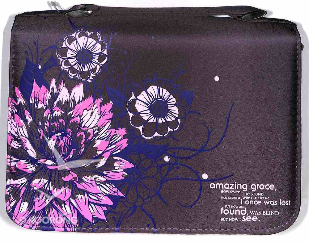 Bible Cover Micro-Fiber: Amazing Grace, Purple Medium Bible Cover