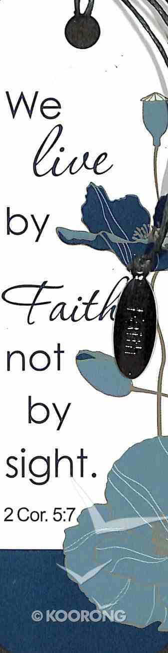 Bookmark With Charm: We Live By Faith, 2 Cor 5:7 Stationery