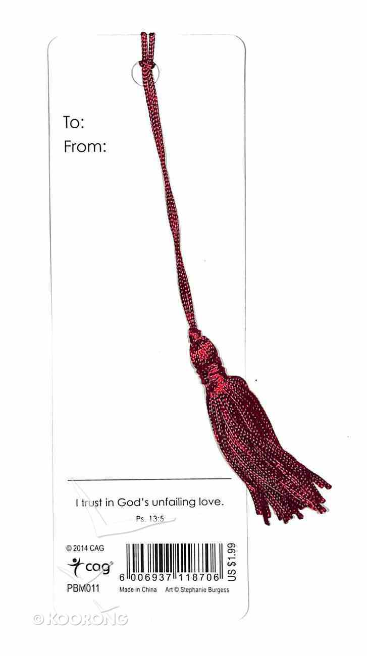 Bookmark With Tassel: The Lord Will Rejoice Over You Stationery