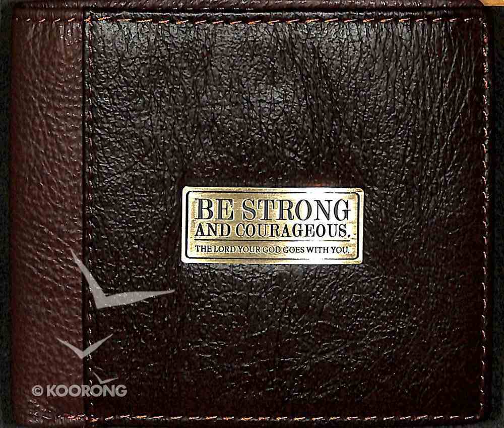 Mens Genuine Leather Wallet: Be Strong and Courageous Soft Goods