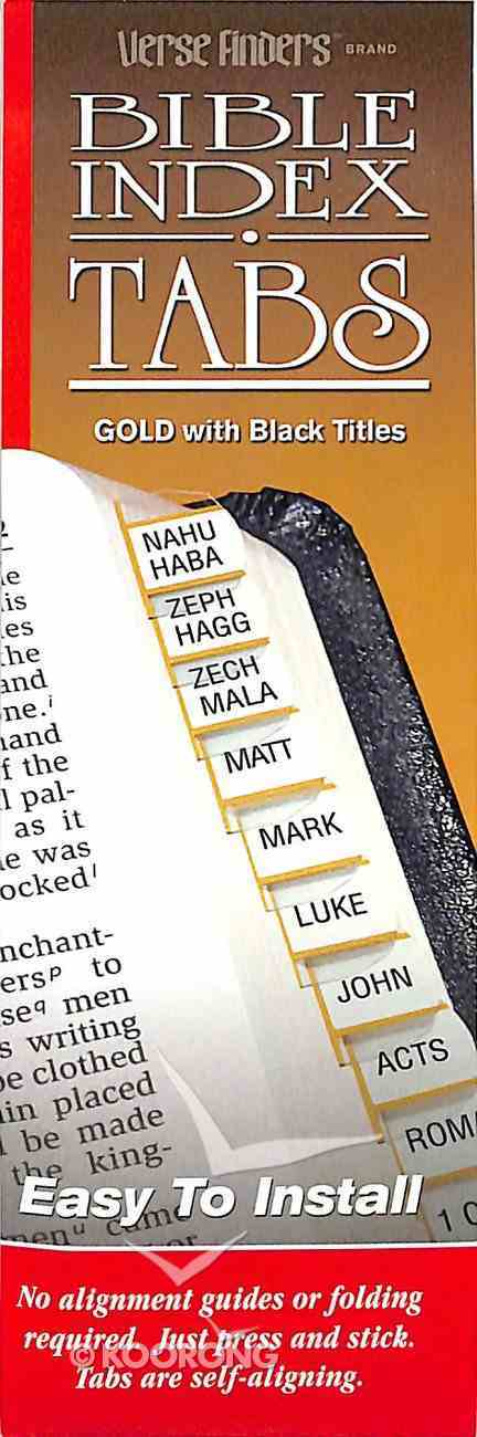 Bible Tabs Verse Finders Gold (Horizontal) Stationery