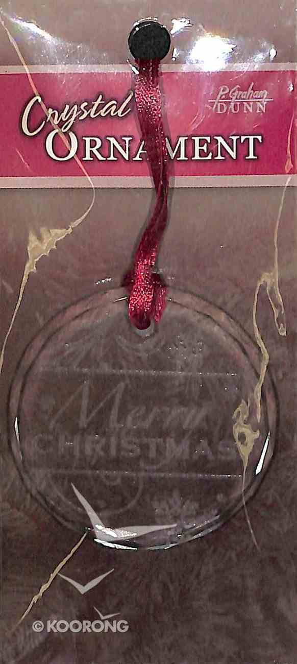 Christmas Crystal Ornament: Merry Christmas (Round Shape) Homeware