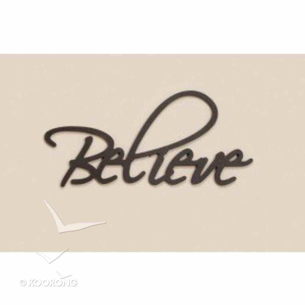Word Plaque: Believe, Black, Mdf Plaque